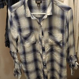 Sort of silky button down top